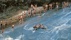 Come slip down this renowned sloping slide into an eight-foot deep mountain pool near brevard, nc. lifeguards supervise the fun during the summer, Nc Mountains, Great Smoky Mountains, The Places Youll Go, Places To See, Maggie Valley, Summer Pictures, During The Summer, Adventure Is Out There, National Forest