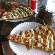 chicken & avocado quesadilla pizzas :)