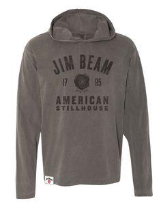 4dddaa1a9 Jim Beam Comfort Colors Hooded Long Sleeve - Jim Beam American Stillhouse  Jim Beam, Comfort