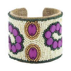 Sam DuPont Jewelry The Arte Moderne Devi Cuff in Charleston Green