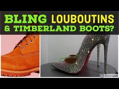 Louboutin So Kate Strass - Bling Timberland Boots Upcoming Project - YouTube Bling Wedding Shoes, Bling Shoes, Christmas Shoes, Holiday Shoes, Custom Sneakers, Custom Shoes, Custom Timberland Boots, Professional Shoes, Embellished Shoes