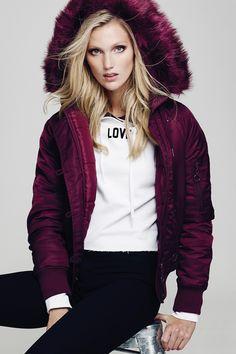 Burgundy Faux-Fur Lined Jacket TALLY WEiJL