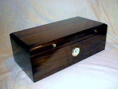 LUBINSKI HANDMADE Luxury Brown High Glossy Piano Finish Cedar Wood