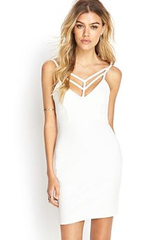 Ladder Cutout Bodycon Dress | FOREVER21 - 2000138275