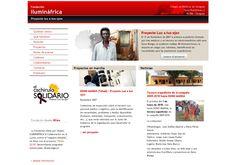 Diseño web para la ONG Ilumináfrica. http://www.iluminafrica.com