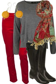 Not sure I could pull of the red pants, but its a great outfit for my lifestyle