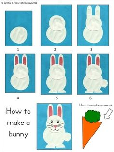 Cute and easy bunny project that can be used as a project for reinforcing CVC and CVCe words or as a bulletin board or door decoration! It's free!