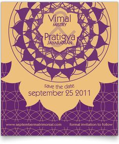Save the Date Cards - Indian Vitality