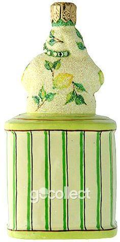 Tea Time Santa (Lemon) Patricia Breen Designs (Cream, Enamel, Green, Tea Party, Yellow, Spring)