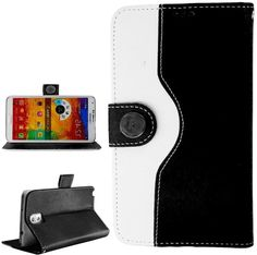myLife Penguin Black and White {Modern Design} Faux Leather (Card, Cash and ID Holder + Magnetic Closing) Slim Wallet for Galaxy Note 3 Smar...