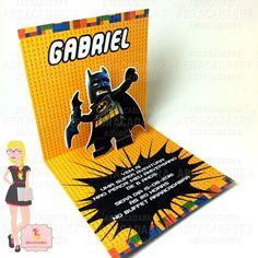 Convite Batman Lego 3D