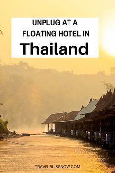 Need some time to unplug and unwind from regular life? Consider floating on a river in Thailand at this luxurious floating bamboo lodge. | Unique hotels in Thailand | Floatel in Thailand | Hotel in the Kanchanaburi Province in Thailand | Floating hotel on the River Kwai Thailand | Where to go in Thailand | Places to stay in Thailand | Things to do in Thailand #hotel #floatel #Thailand #TravelBlissNow