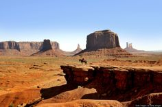 "Monument Valley Navajo Tribal Park, Arizona and Utah John Wayne rode horseback over this siltstone basin in the movie ""Stagecoach."" You might be more interested in a Jeep tour."