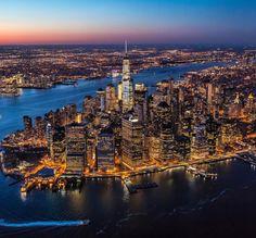Lower Manhattan by @calderwilson @flynyon