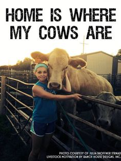 "When I was little and would get home from school to find the cows in the pasture around the house, I would start singing, ""My cows are home, my cows are home.""  Oh the memories"