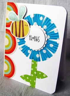 Cupcake Liner Card - thank you