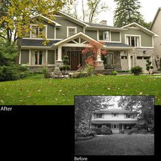 Home Exterior Renovation Before And After Classy Before After Home Exterior Designs Design Ideas
