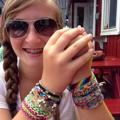 Summer friendship bracelets.  #summer #friendshipbracelet #camp #fizzcandy