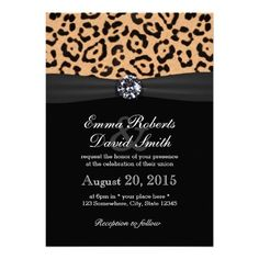 Shop Modern Leopard Print Black Ribbon Wedding Invitation created by myinvitation. Cheetah Print Wedding, Animal Print Wedding, Leopard Wedding, Leopard Print Party, Modern Wedding Invitations, Wedding Cards, Ribbon Wedding, Trendy Wedding, Our Wedding
