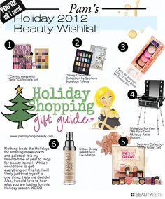 Pammy's Holiday 2012 Beauty Wishlist: See what Pammy wants and what the other lovely Makeup Wars bloggers are wishing for!