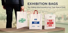 Exhibition Bags - Your Walking Advertisements at any Trade Show or Event Company Profile Design, Promotional Bags, Packing Supplies, Best Investments, Custom Bags, Carry On Bag, Trade Show, Read More, Paper Shopping Bag