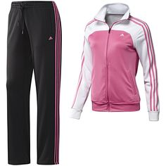 Adidas Women s Essentials 3-Stripes Knit Track Suit e33c3c3da962