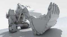 Shovel R996 shovel excavator digger power liebherr cat groundman heavy tracktor crawler track industrial machine vehicle engine
