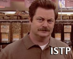 Ron Swanson (Parks and Recreation)- ISTP Crafter (Introverted Sensing Thinking Perceiving) The nature of Crafters is most clearly seen in their masterful operation of tools, equipment, machines, and...