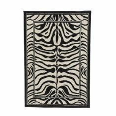 Bexhill Black/White Rug World Menagerie Rug Size: Rectangle 63 x White Area Rug, Blue Area Rugs, Zebra Print, Animal Print Rug, Animal Rug, Zebra Skin Rug, Black White Rug, White Zebra, Black 7