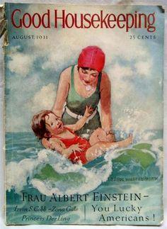 Good Housekeeping Maga Aug 1931  Jessie Wilcox Smith Cover