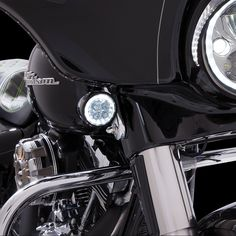 Black Billet Fairing Windshield Hardware 14-Up Harley Touring PUNISHER USA FLAME