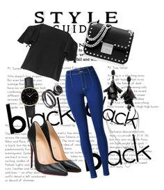 """Style in black"" by kaoriihayashi on Polyvore featuring Fendi, MICHAEL Michael Kors, ROSEFIELD, Oscar de la Renta and Christian Louboutin"