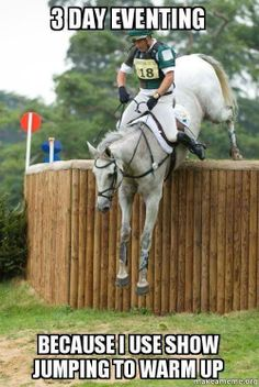 Most amazing equine and human athletes. I aspire to make it to Novice one day...
