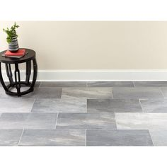 Stoval Grey Porcelain Tile - 12 x 24 - 100559137 Grey Kitchen Tiles, Grey Bathroom Floor, Grey Floor Tiles, Ceramic Floor Tiles, Porcelain Tile, Best Kitchen Flooring, Kitchen With Grey Floor, Tile Bathroom Floors, Dark Tile Floors