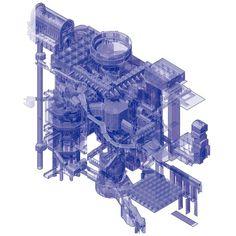 """becoming on Instagram: """"IDYLL - modelo espacial de recorridos experienciales. Gonzalo Rojas Encinar. TFM. #generativa. IDYLL es un universo interconectado de…"""" Conceptual Architecture, Architecture Concept Diagram, Architecture Presentation Board, Architecture Graphics, Conceptual Design, Architecture Drawings, Architecture Portfolio, Axonometric Drawing, Technical Drawing"""