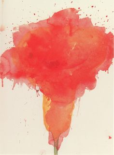 """ Cy Twombly, Scent of Madness, 1986, Watercolor on paper over a print by Betty di Robilant """