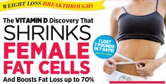 The Vitamin D Discovery That Shrinks Female Fat Cells and Boosts Fat Loss up to Weight Loss Juice, Fat Loss Diet, Weight Loss Meal Plan, Easy Weight Loss, Healthy Weight Loss, Reduce Weight, How To Lose Weight Fast, Health And Beauty Tips, Fitness Tips