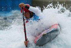 Scott Parsons of the US competes during the Men's Kayak (K1) Canoe Slalom at the 2012 Olympic Games.