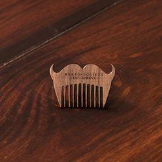 Little Mustache - Bartpflege Holzschmuck aus Naturholz / Anhänger Mustache, Rings For Men, Stud Earrings, Jewelry, Handmade, Necklaces, Ring, Wristlets, Men Rings