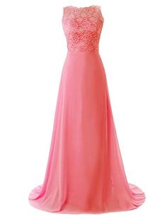 Dressystar Chiffon Lace Sleeveless Backless Prom Dress Long Party Bridesmaid Gown Size 2 Coral Dressystar http://www.amazon.com/dp/B00KXWFBCW/ref=cm_sw_r_pi_dp_Lrjkub0AH3V3F