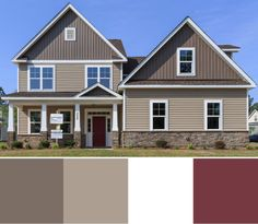 Beige brown and red exterior paint trend 2015 exterior house colors pinterest fachadas for Sherwin williams homestead brown exterior