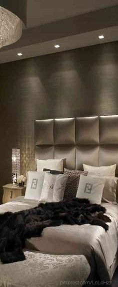 love the wall color and head board