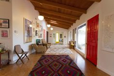 """Vibrant, Vintage """"Librarian-Chic"""" Digs"""