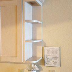 kitchen corner open cabinet