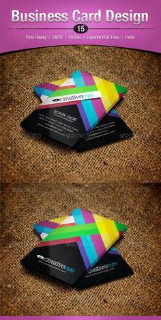 Colorful business card design - #graphic #design