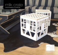 Timber milk crates for side tables for my daybed. Perhaps.