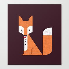 Le Sly Fox Stretched Canvas by Budi Satria Kwan - $85.00