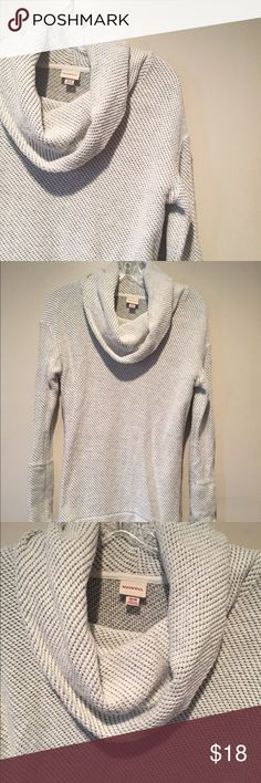 Funnel Neck Sweater Gray/white funnel neck sweater from Merona. Worn only once or twice so in excellent condition! Size medium. Merona Sweaters Cowl & Turtlenecks