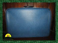 Vintage Blue And Black JETLINER Tapered Footed by KressHillVintage