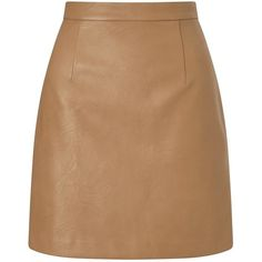Lost Ink Faux Leather A Line Skirt found on Polyvore